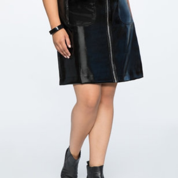 681f9c30bed4b Plus Size Vinyl Skirt from Eloquii